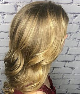golden blonde hair color, salon piper glen hairdressing salon in Charlotte, North Carolina