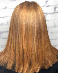 copper hair color, red hair colour, salon piper glen, hair salon, Charlotte, NC