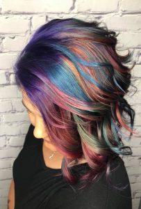 pastel peacock hair charlotte