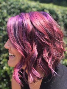 purple hair charlotte