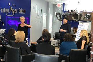 Hair Color Training at Salon Piper Glen