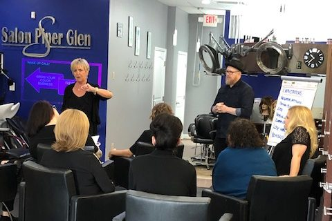 Hair Color Training at Salon Piper Glen
